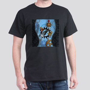 Wonderful dolphin jumping by a gear T-Shirt
