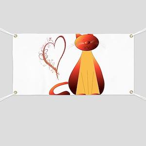 Cute Ginger Cat Art Banner