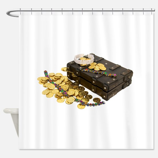 GoldJewelryTreasure092009.png Shower Curtain