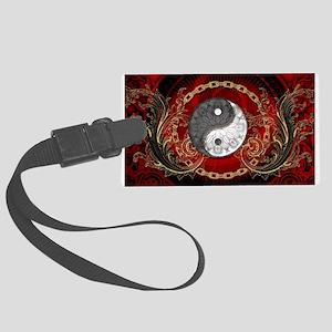 The sign ying and yang on vinatge background Lugga