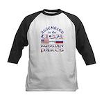 USA / Russian Parts Kids Baseball Jersey