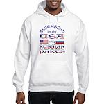 USA / Russian Parts Hooded Sweatshirt