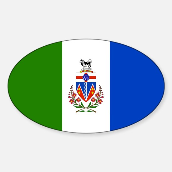 Yukon Territories Flag Sticker (Oval)