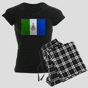 Yukon Territories Flag Women's Dark Pajamas