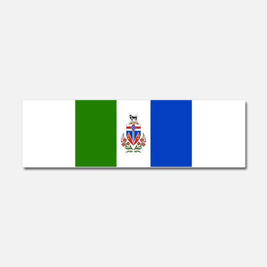 Yukon Territories Flag Car Magnet 10 x 3