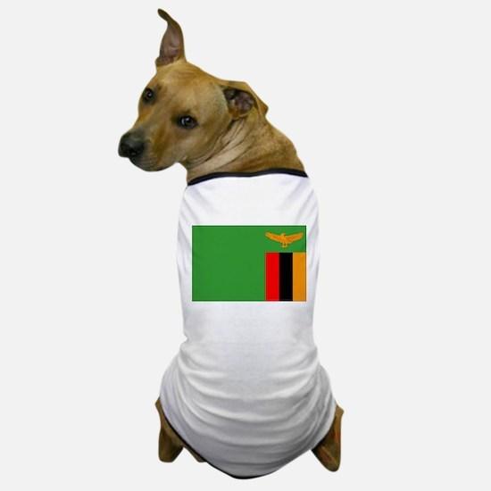 Zambia Flag Dog T-Shirt