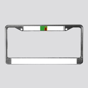 Zambia Flag License Plate Frame