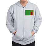 Zambia Flag Zip Hoodie