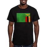 Zambia Flag Men's Fitted T-Shirt (dark)