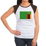 Zambia Flag Women's Cap Sleeve T-Shirt
