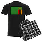 Zambia Flag Men's Dark Pajamas