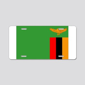 Zambia Flag Aluminum License Plate