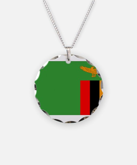 Zambia Flag Necklace