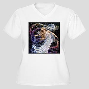 Celestial Fairy Women's Plus Size V-Neck T-Shirt