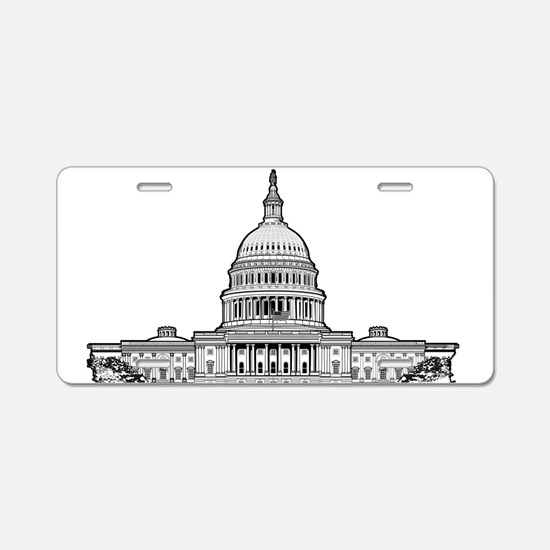 U.S.Capitol Building Aluminum License Plate