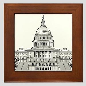 U.S.Capitol Building Framed Tile