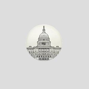 U.S.Capitol Building Mini Button