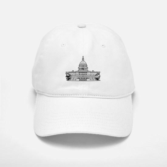 U.S.Capitol Building Baseball Baseball Cap