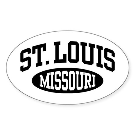 St. Louis Missouri Sticker (Oval)