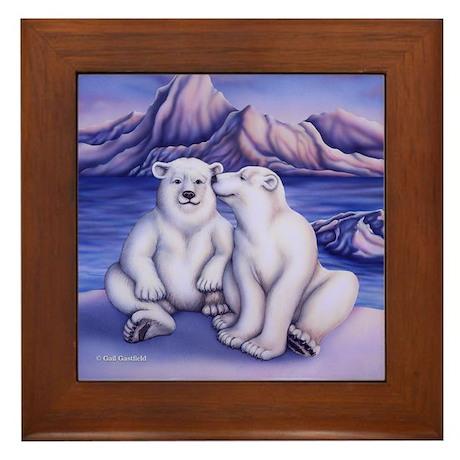 Polar Attraction Framed Tile