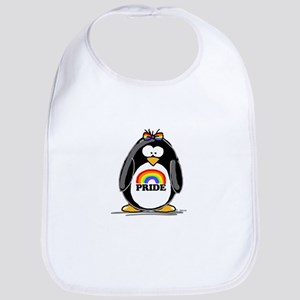 Gay Pride Girl Penguin Bib