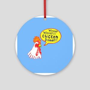 Winner Chicken Dinner Ornament (Round)