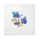 Watercolor Flowers Queen Duvet