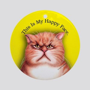 Happy Face Porcelain Keepsake (Round)