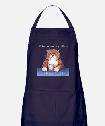 Coffee Cat Apron (dark)