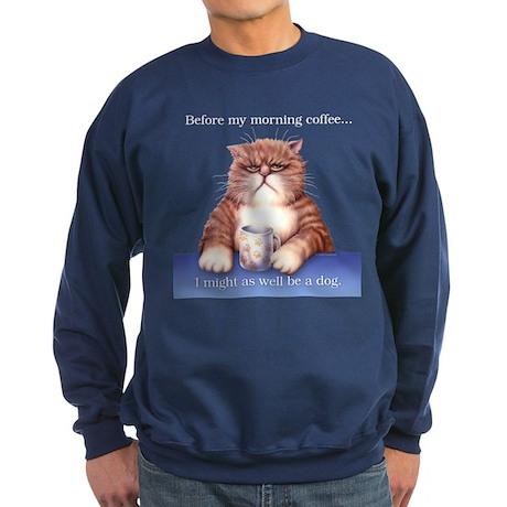 Coffee Cat Sweatshirt (dark)