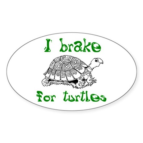 Turtles - Sticker (Oval 10 pk)