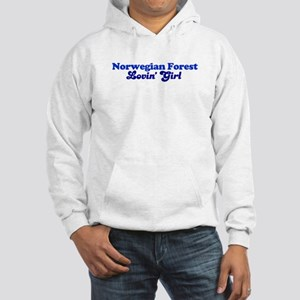 Norwegian Forest Cat Loving G Hooded Sweatshirt