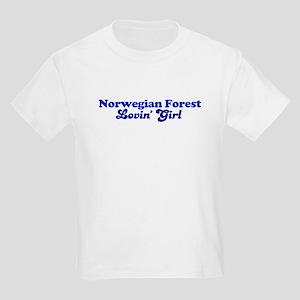 Norwegian Forest Cat Loving G Kids T-Shirt