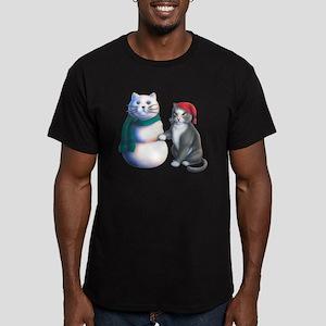 Snowcats Men's Fitted T-Shirt (dark)