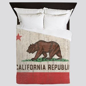 Vintage California Republic Flag Queen Duvet