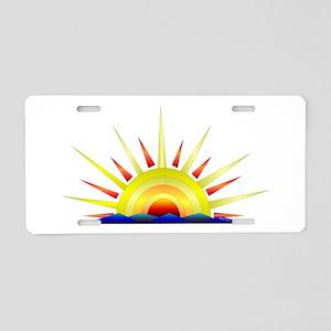 Sunny Aluminum License Plate