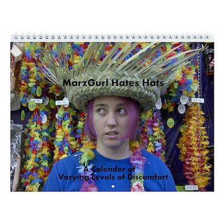 MarzGurl Hates Hats Wall Calendar