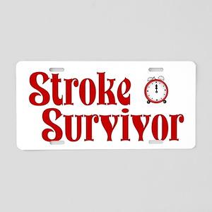 Stroke Survivor Aluminum License Plate