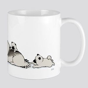 Keeshond with Puppies Mug