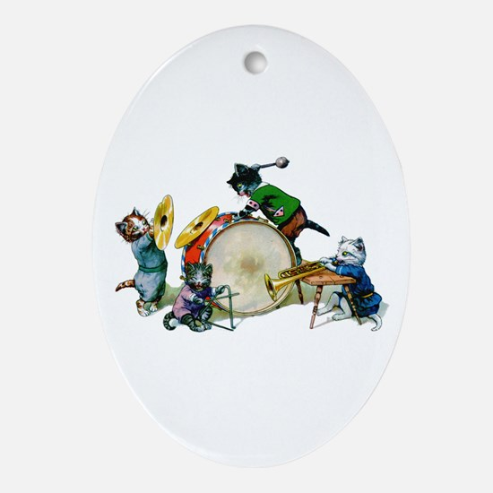 Jazz Cats Ornament (Oval)