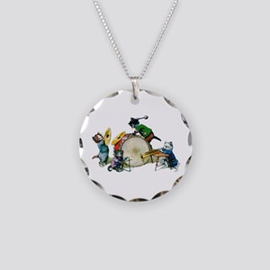 Jazz Cats Necklace Circle Charm