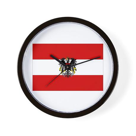 Austrian National Flag Wall Clock
