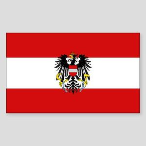 Austrian National Flag Rectangle Sticker
