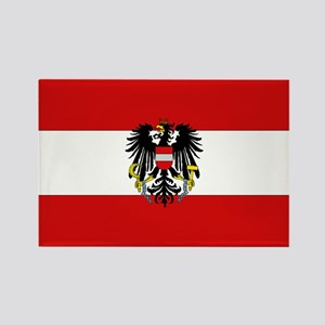 Austrian National Flag Rectangle Magnet