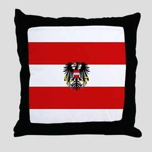 Austrian National Flag Throw Pillow