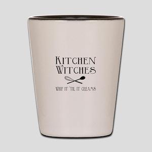 Kitchen Witches Shot Glass