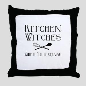 Kitchen Witches Throw Pillow