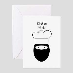 Kitchen Ninja Greeting Card