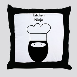 Kitchen Ninja Throw Pillow