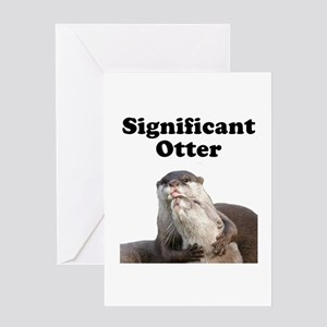 Significant Otter Greeting Card